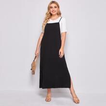 Plus Side Split Cami Dress