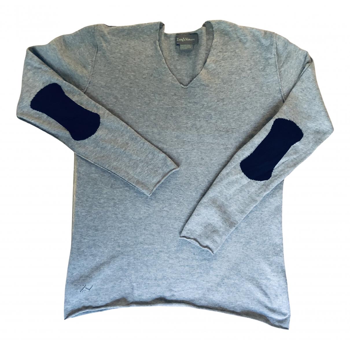 Zadig & Voltaire Fall Winter 2019 Pullover.Westen.Sweatshirts  in  Grau Baumwolle