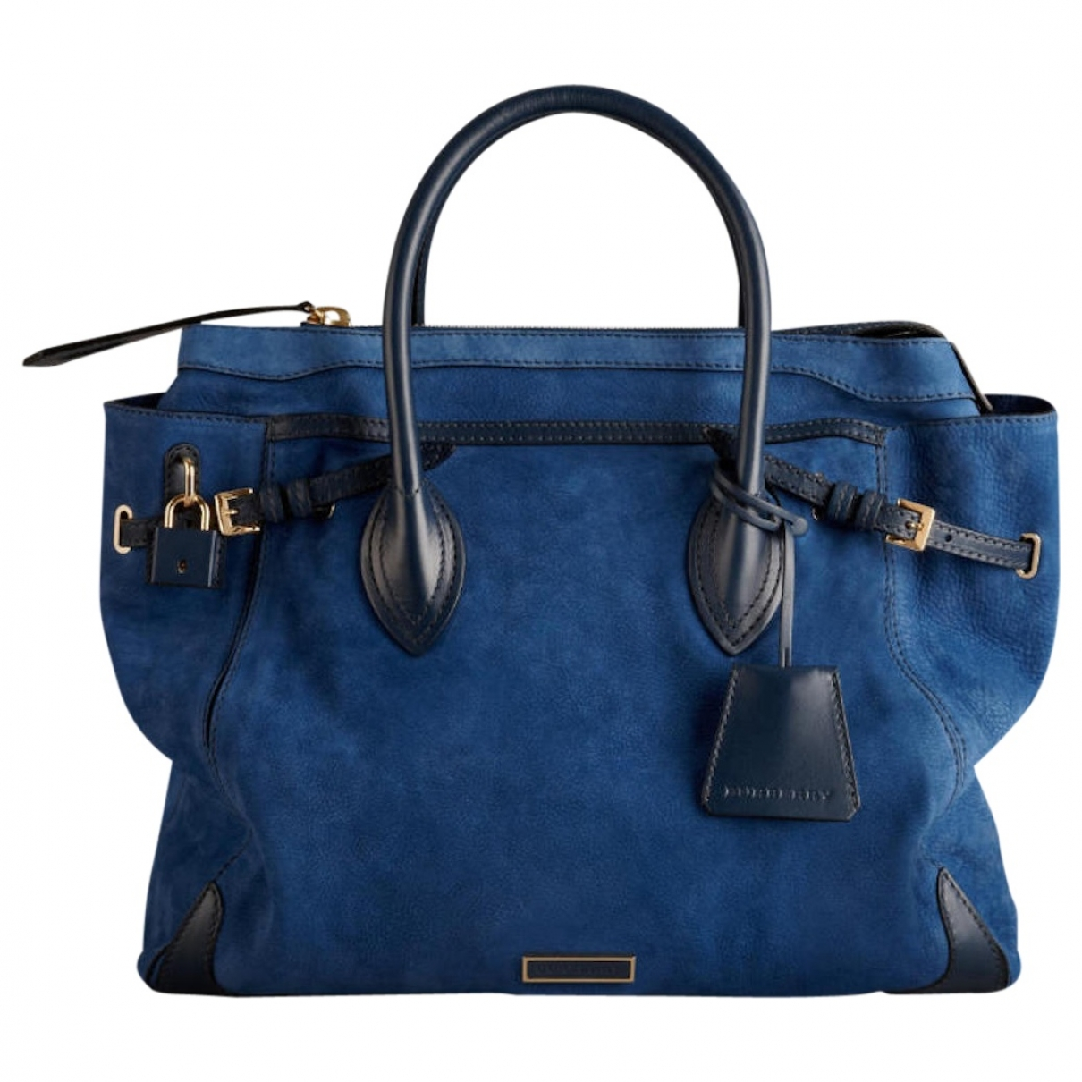 Burberry \N Navy Suede handbag for Women \N