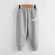 Toddler Boys Dinosaur And Letter Graphic Sweatpants