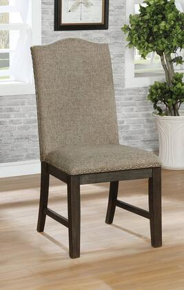 Faulk Collection CM3310SC-2PK Side Chair (Set of 2) in Espresso  Warm