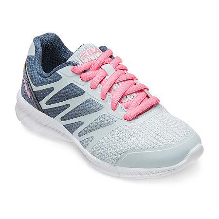 Fila Speedstride Little Kids Girls Lace-up Running Shoes, 1 Medium, Gray