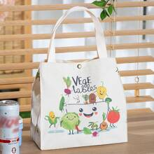 Vegetables Print Insulation Lunch Bag