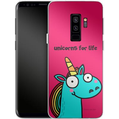 Samsung Galaxy S9 Plus Silikon Handyhuelle - Unicorns for Life von Flossy and Jim
