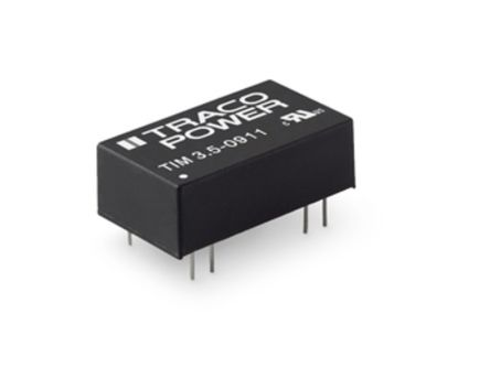 TRACOPOWER TIM 3.5 3.5W Isolated DC-DC Converter Through Hole, Voltage in 4.5 → 12 V dc, Voltage out 9V dc