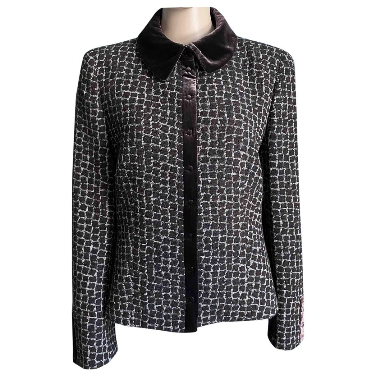 Armani Collezioni N Brown Wool jacket for Women 48 IT