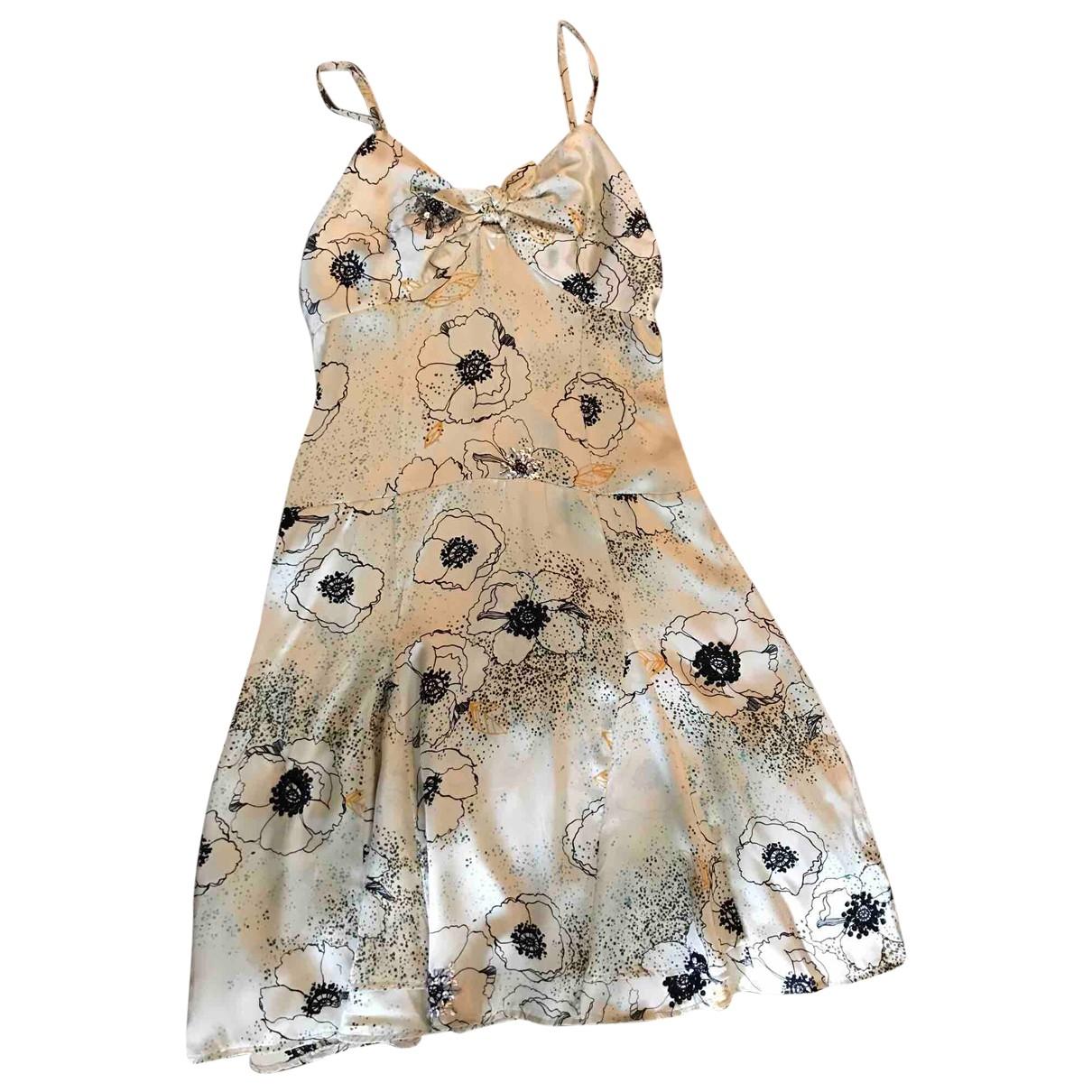 Maje \N Beige Silk dress for Women 3 0-5