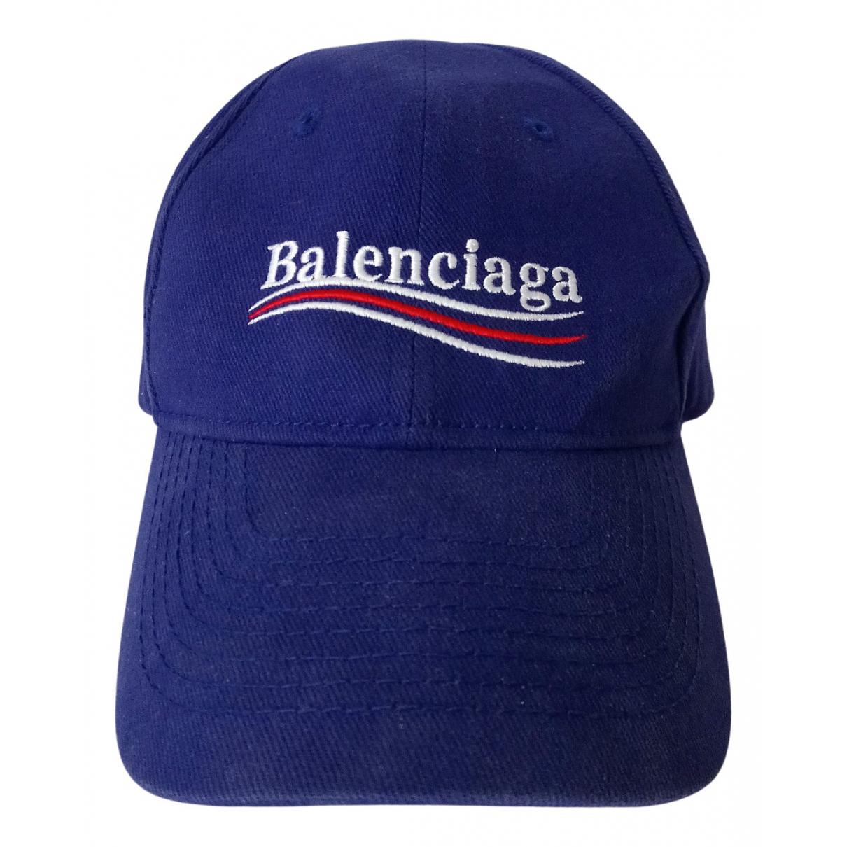 Balenciaga \N Hut, Muetzen in  Blau Baumwolle