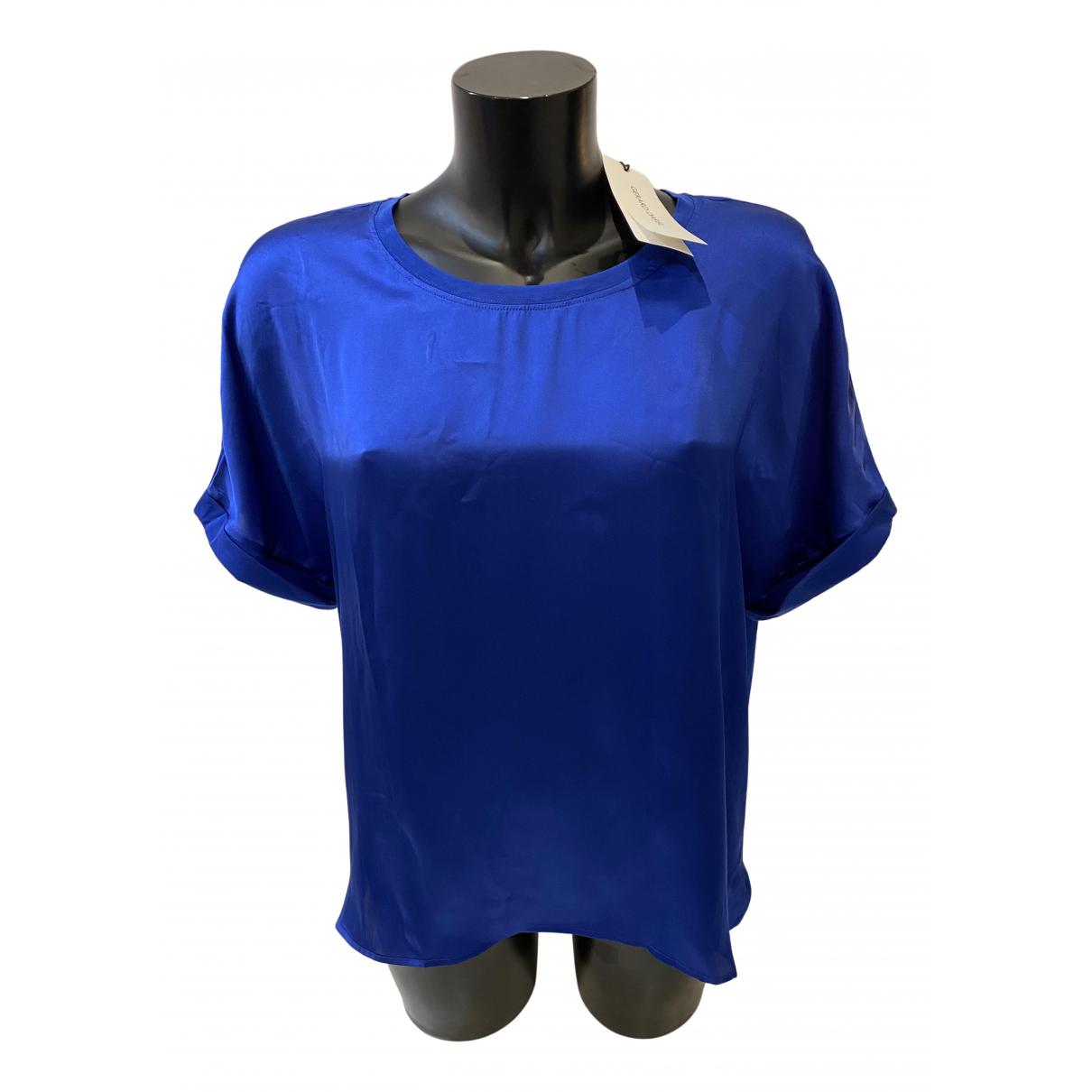 Gerard Darel N Blue Cotton  top for Women 44 FR