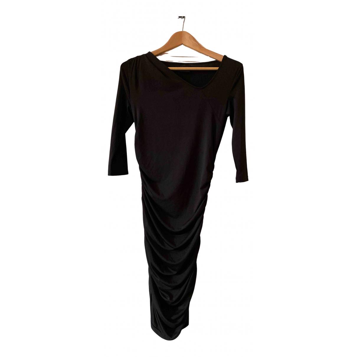 Selected \N Kleid in  Schwarz Polyester