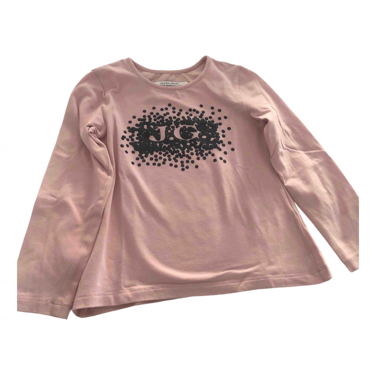John Galliano - Top   pour enfant en coton - rose