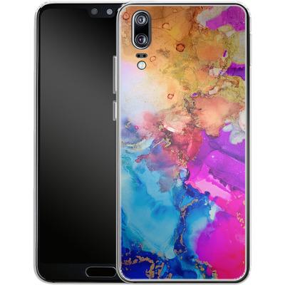 Huawei P20 Silikon Handyhuelle - Cosmic Swirl III von Stella Lightheart