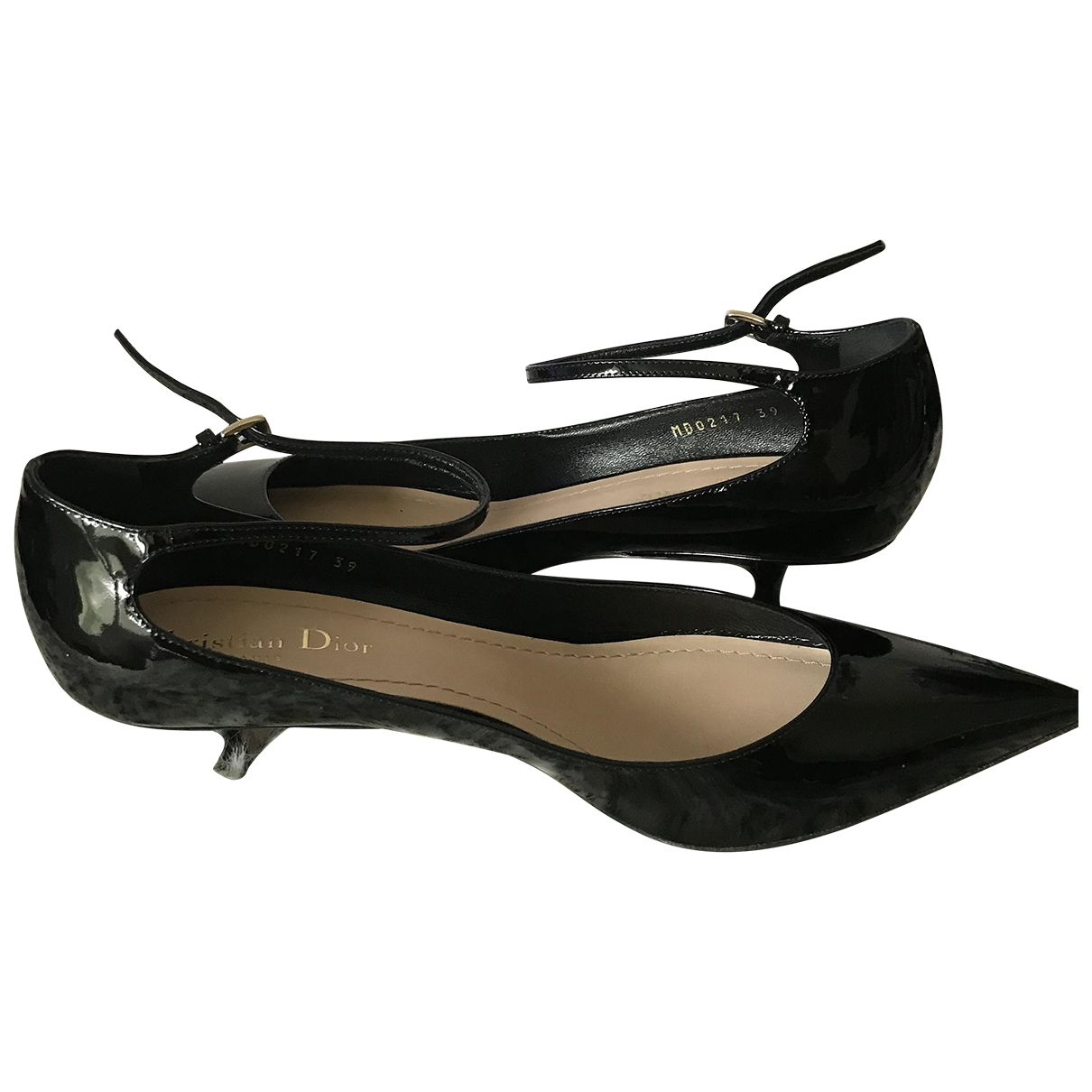 Dior Baby-D Black Patent leather Heels for Women 39 EU