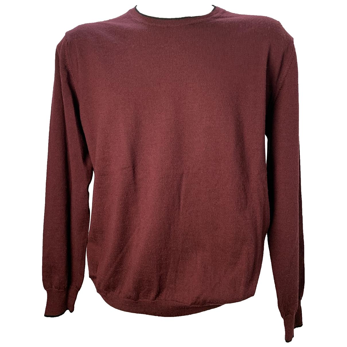 Calvin Klein - Pulls.Gilets.Sweats   pour homme en laine - bordeaux