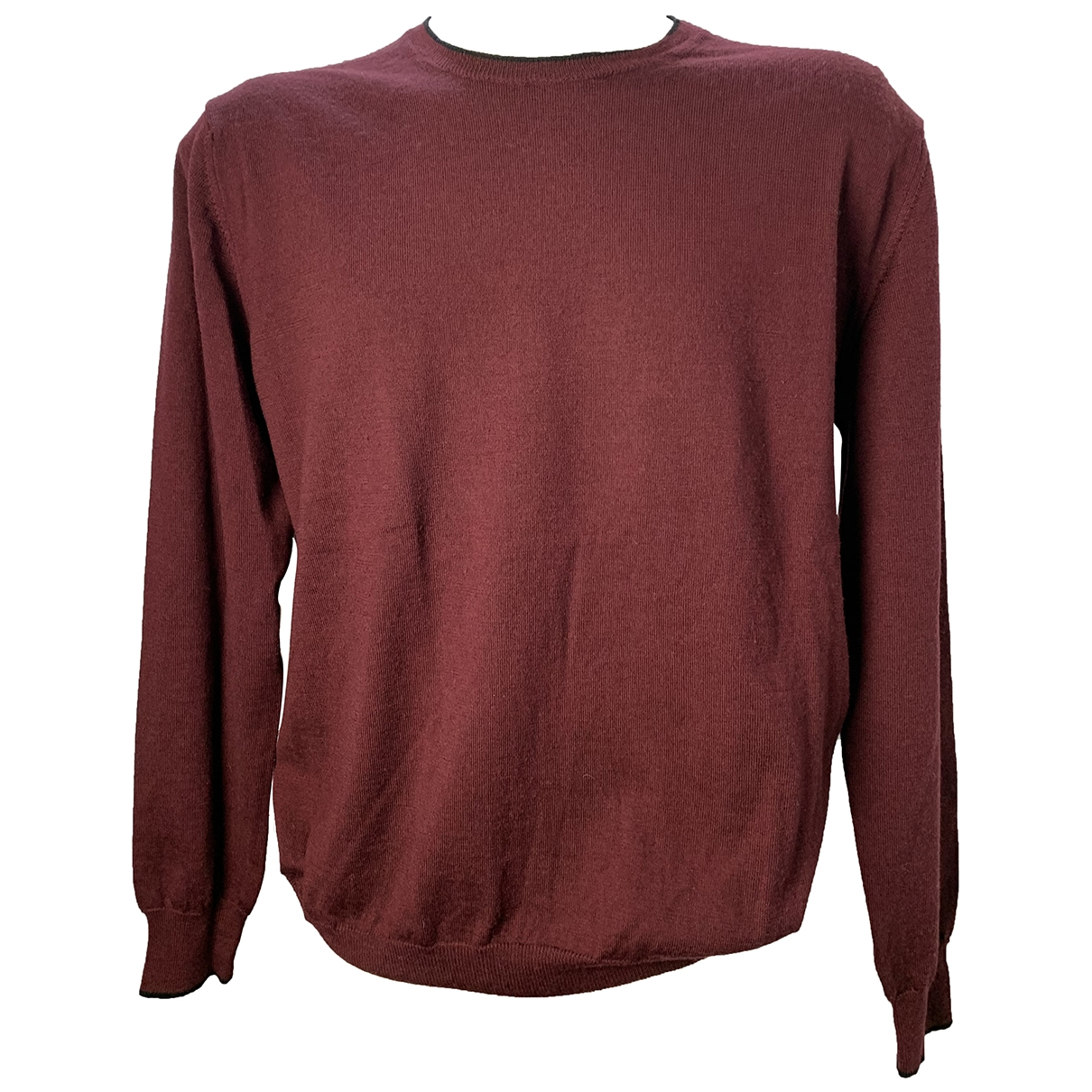 Calvin Klein \N Pullover.Westen.Sweatshirts  in  Bordeauxrot Wolle