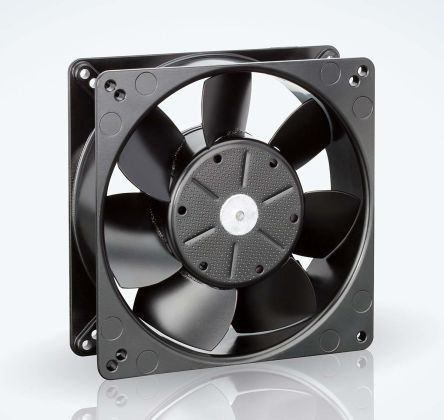 ebm-papst , 12 V dc, DC Axial Fan, 127 x 127 x 38mm, 340m³/h, 19W, IP20