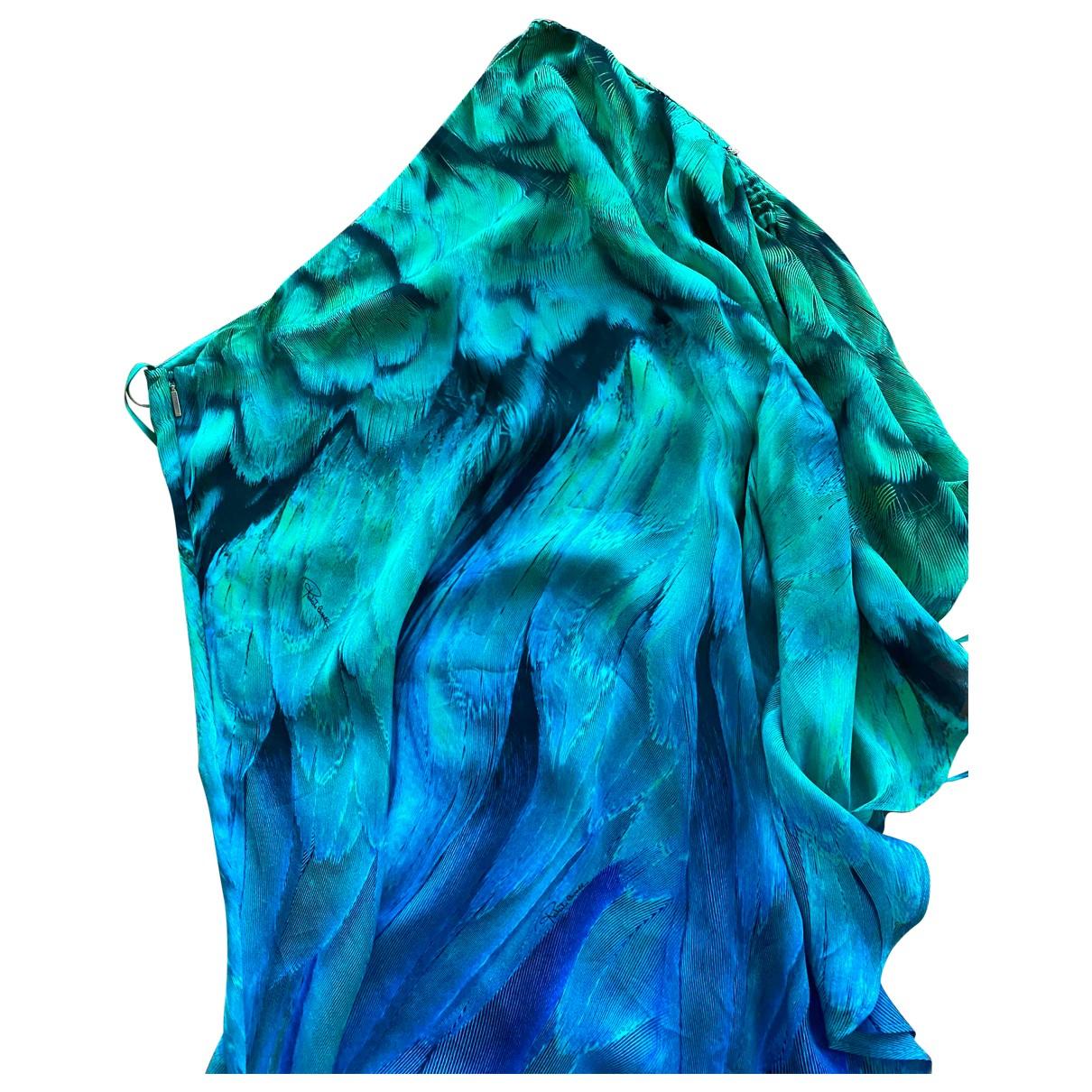 Roberto Cavalli - Robe   pour femme en soie - vert