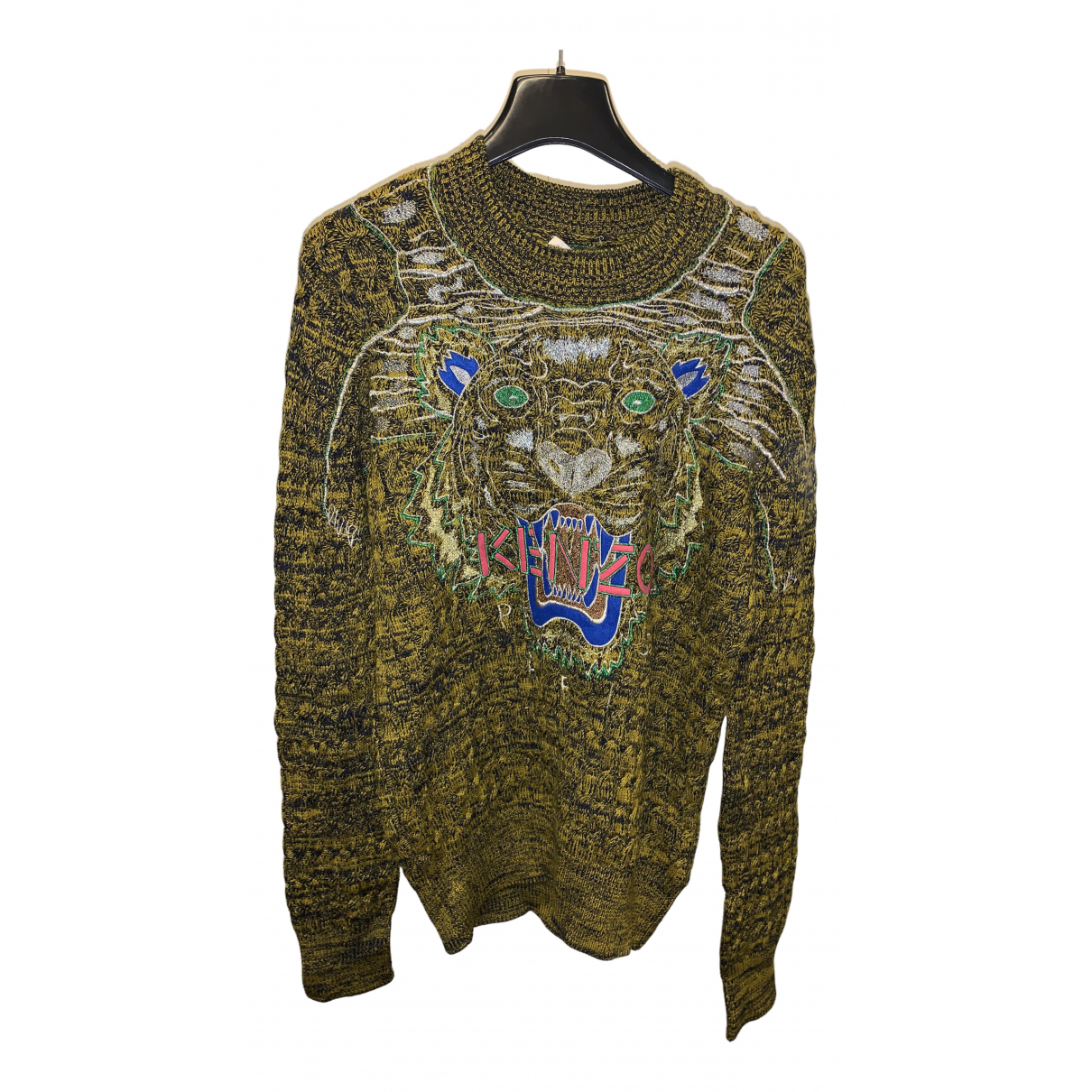Kenzo \N Pullover.Westen.Sweatshirts  in  Khaki Baumwolle