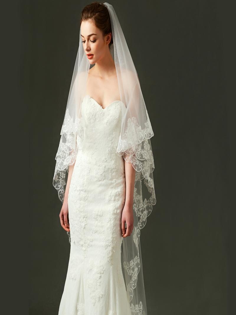 Ericdress Tulle Appliques Long Wedding Veil