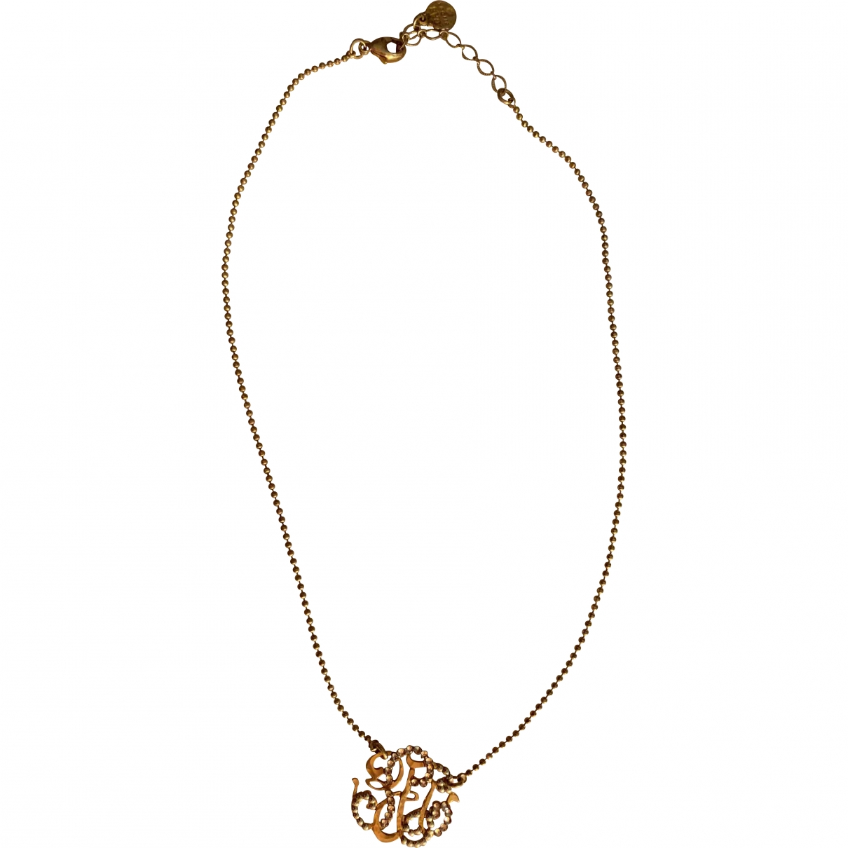 Gas - Collier Arabesque pour femme en plaque or - dore