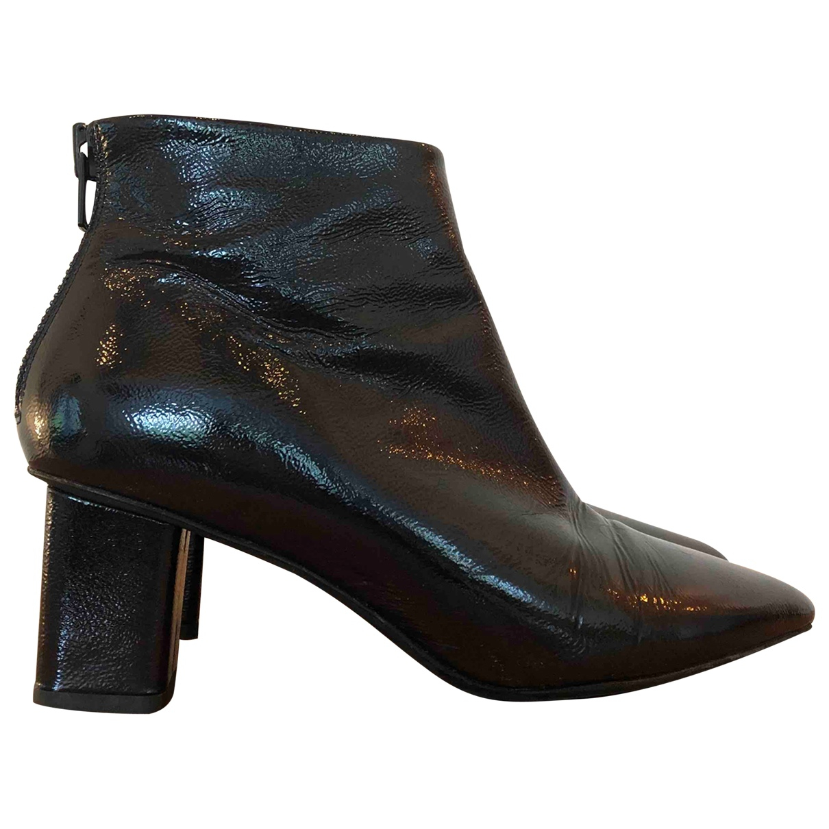 H&m Studio \N Blue Leather Ankle boots for Women 38 EU
