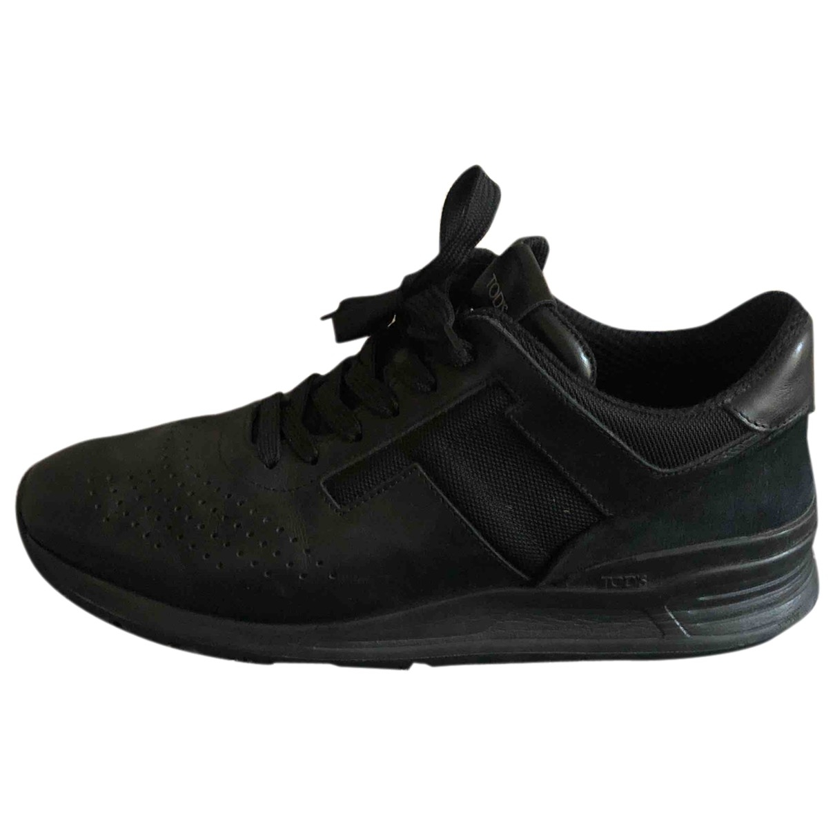 Tod's \N Black Leather Trainers for Men 9 UK