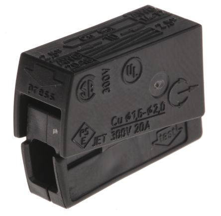 Wago 224 Series, Connector, Rated At 24A, 400 V, Black (10)