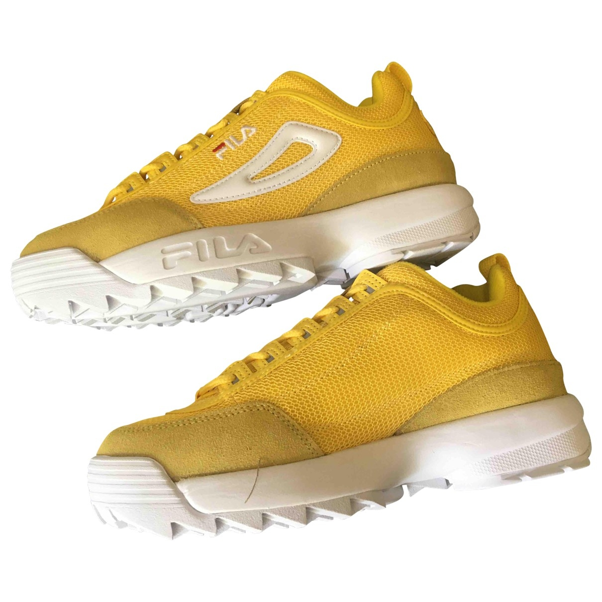 Fila \N Mokassins in  Gelb Leder
