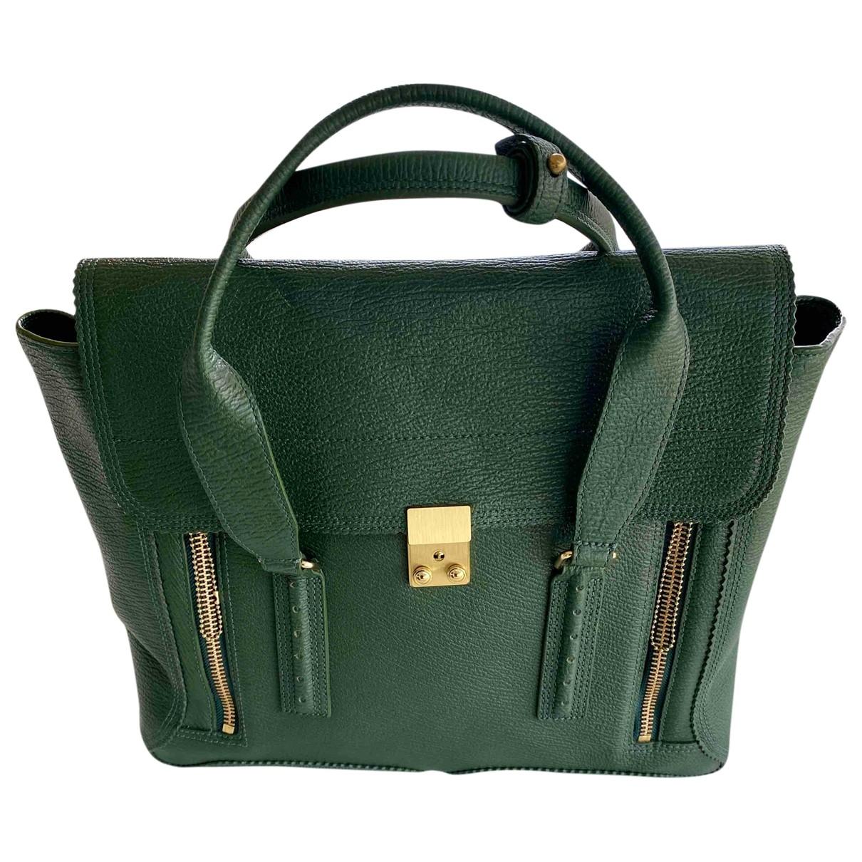 3.1 Phillip Lim Pashli Handtasche in  Gruen Leder