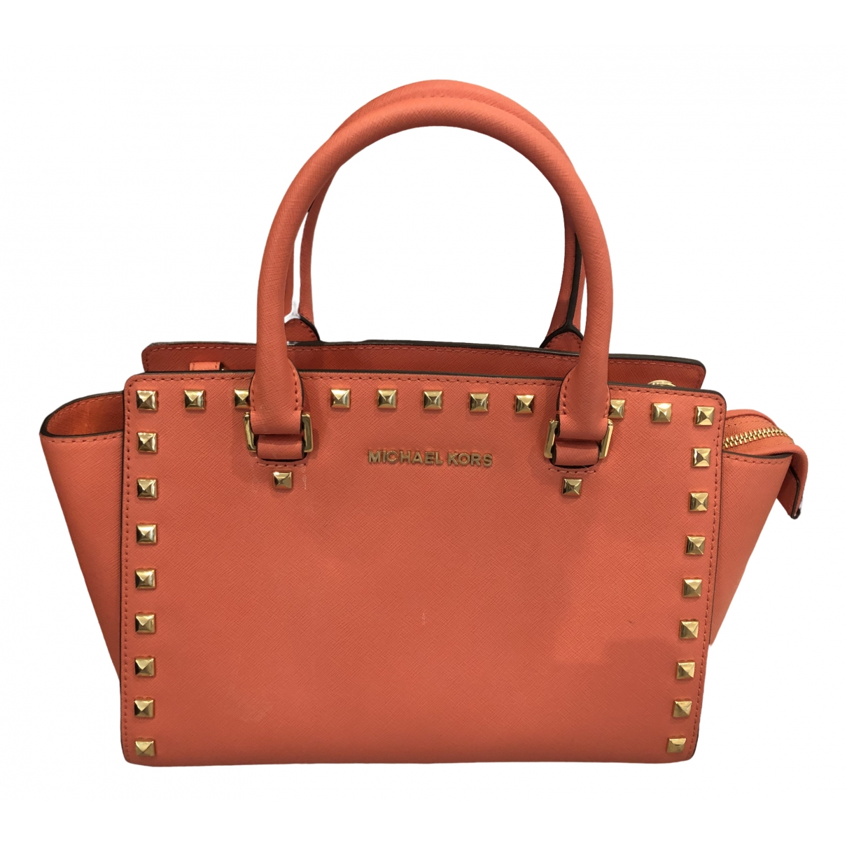 Michael Kors Selma Orange Leather handbag for Women \N