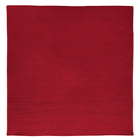 Colonial Mills Nantucket Reversible Braided Indoor/Outdoor Square Rug, One Size , Red