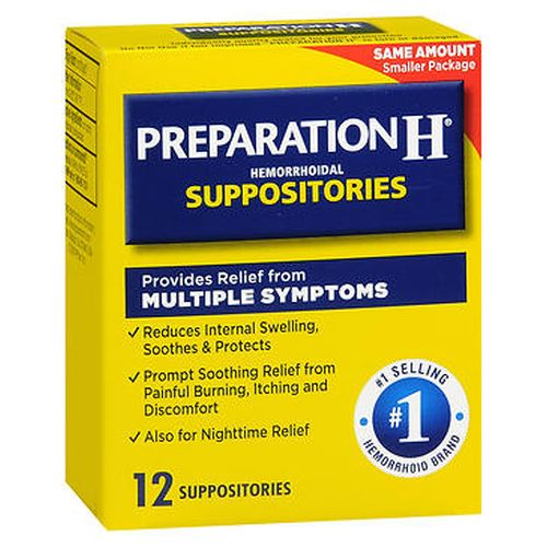 Preparation H Hemorrhoidal Suppositories 12 Each by Preparation H
