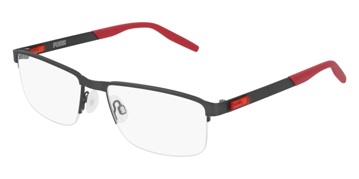 Puma PU0255O 004 Men's Glasses Grey Size 56 - Free Lenses - HSA/FSA Insurance - Blue Light Block Available