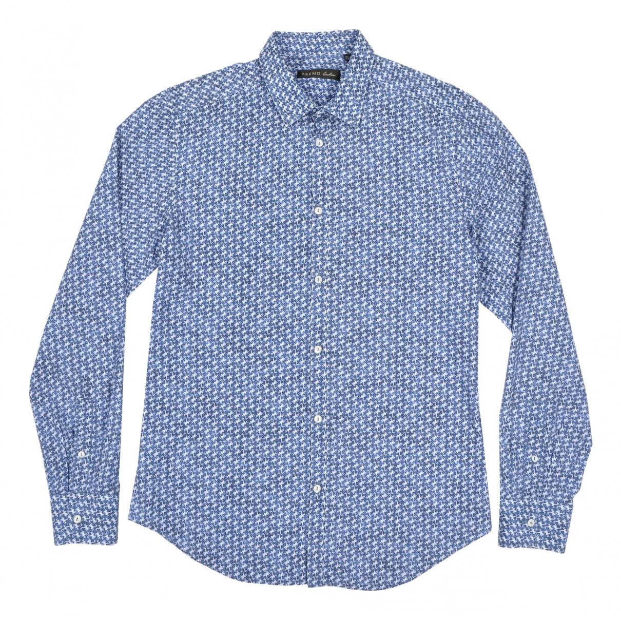 Corneliani \N Navy Cotton Shirts for Men 39 EU (tour de cou / collar)