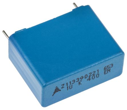 EPCOS 1μF Polypropylene Capacitor PP 200 V ac, 400 V dc ±10% Tolerance Through Hole B32653 Series