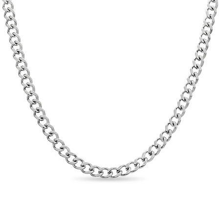 Mens 20 Inch Stainless Steel Link Necklace, One Size , No Color Family
