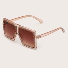 Girls Rhinestone Decor Sunglasses