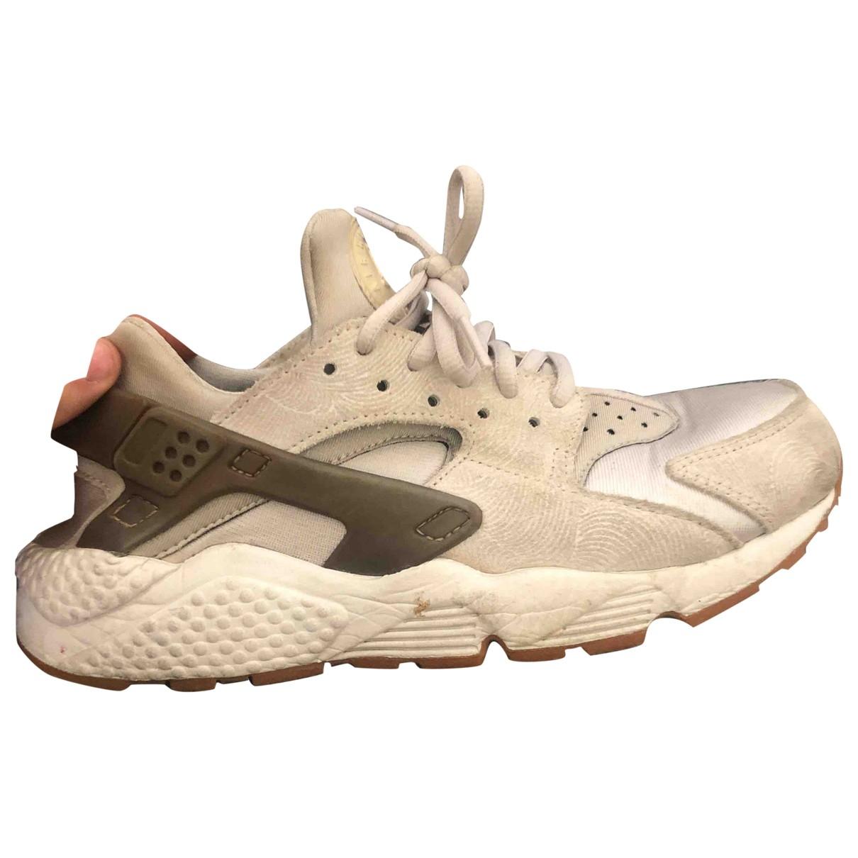 Nike - Baskets Huarache pour femme en toile - beige