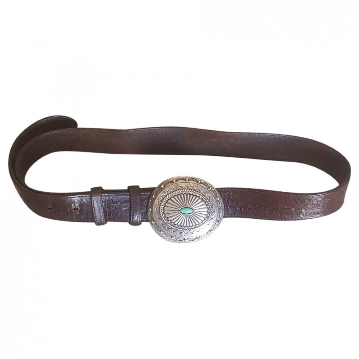 Non Signé / Unsigned \N Brown Leather belt for Men 100 cm