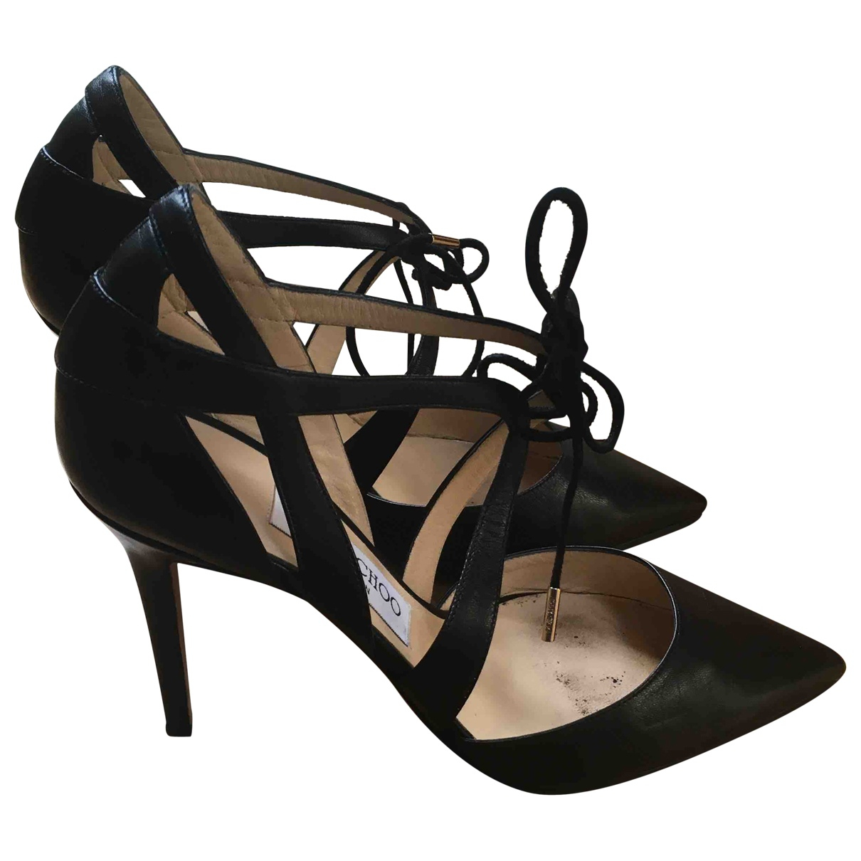 Jimmy Choo \N Black Leather Heels for Women 37 EU