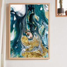 Leinwandbild mit abstraktem Treibsand Muster ohne Rahmen