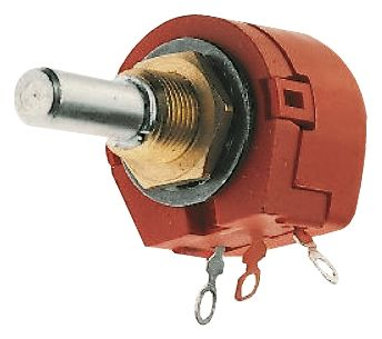 TE Connectivity 1 Gang Rotary Wirewound Potentiometer with an 6.35 mm Dia. Shaft - 100Ω, ±10%, 1W Power Rating, Linear,