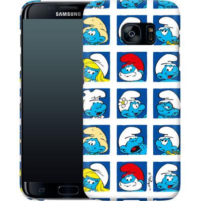 Samsung Galaxy S7 Edge Smartphone Huelle - Smurf Squares von The Smurfs
