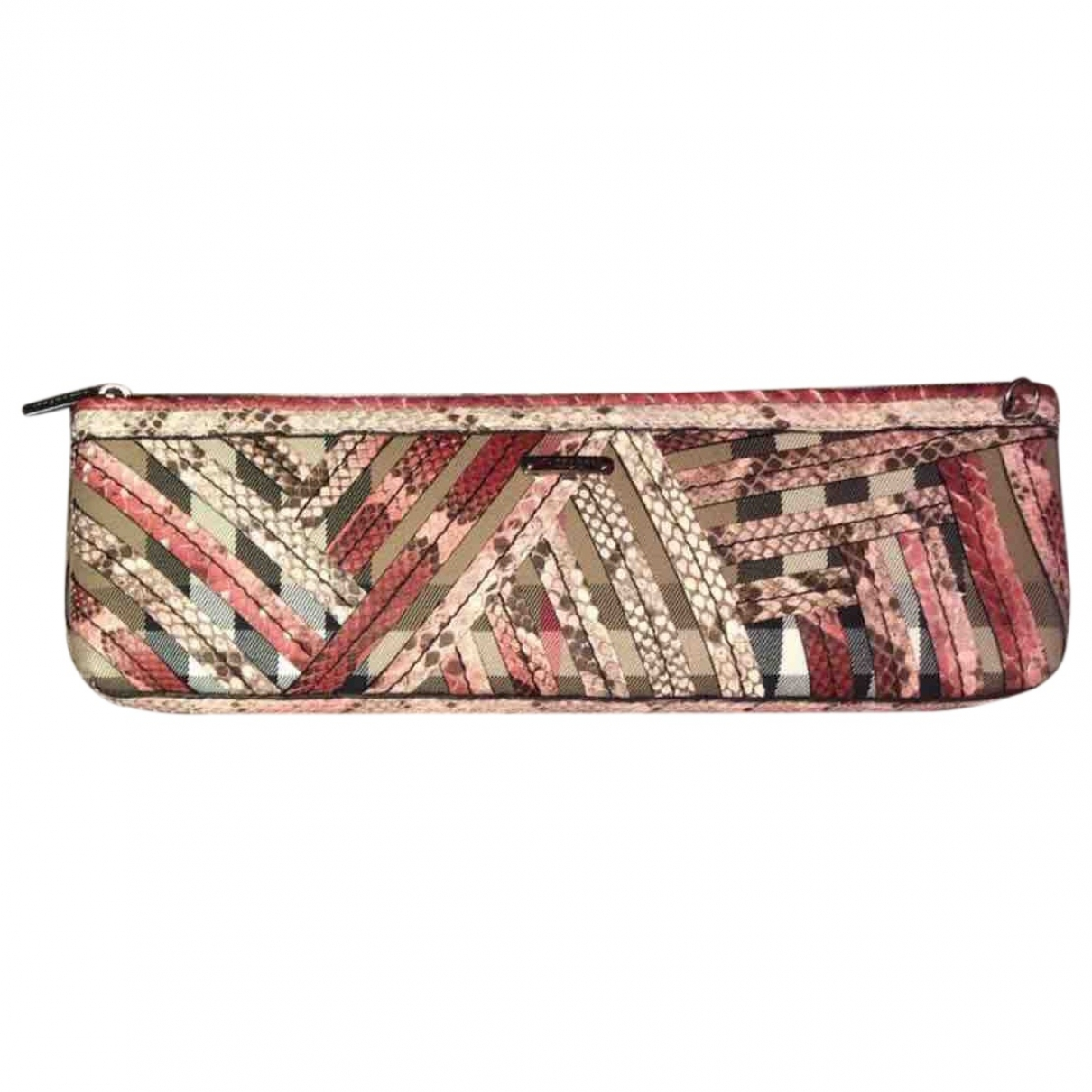 Burberry \N Pink Leather Clutch bag for Women \N