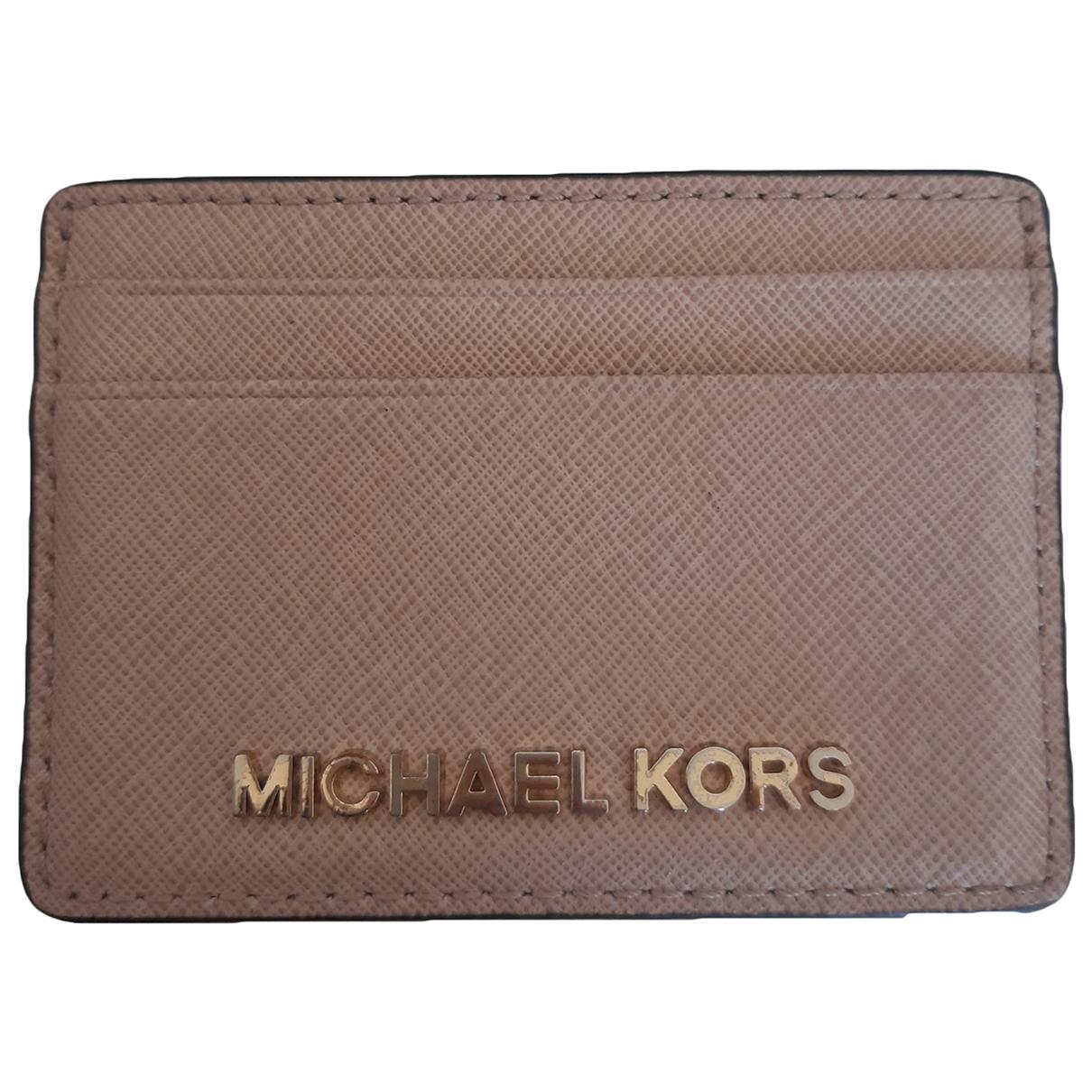 Michael Kors \N Portemonnaie in  Beige Leder