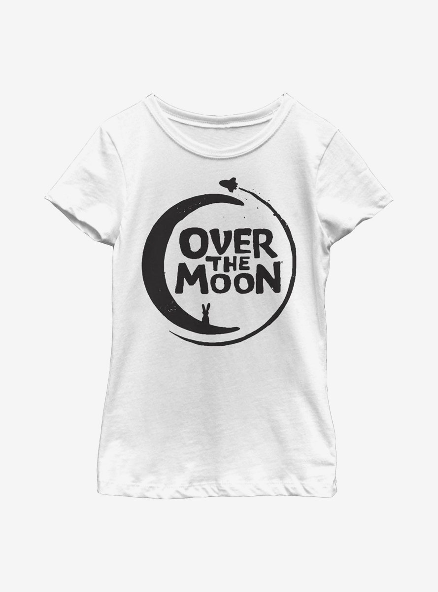 Over The Moon Logo Solid Youth Girls T-Shirt