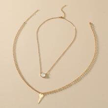 2pcs Key Charm Necklace