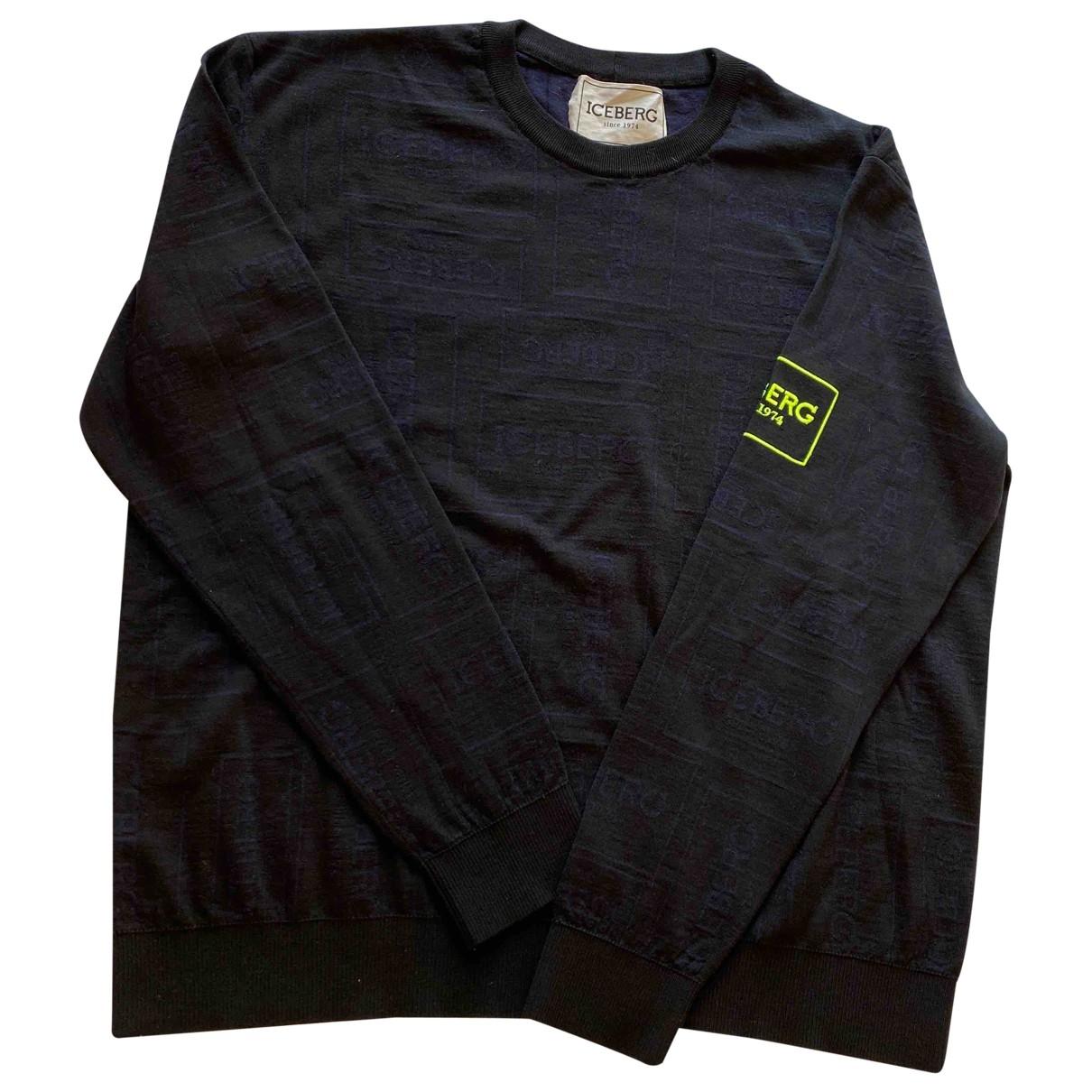 Iceberg \N Pullover.Westen.Sweatshirts  in  Blau Wolle