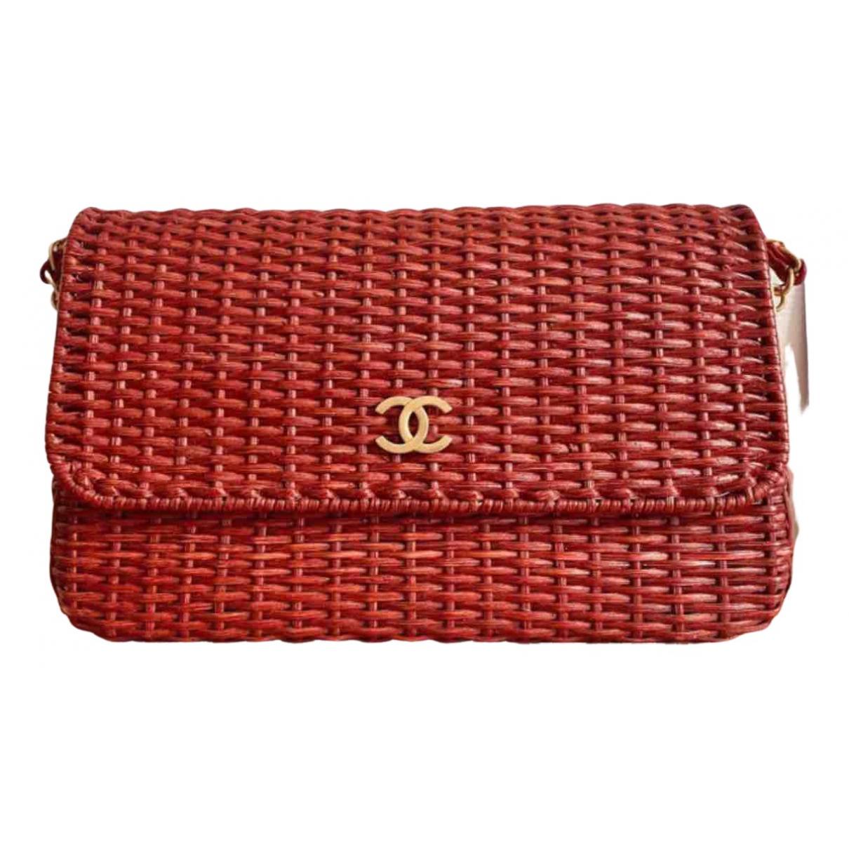 Chanel N Red Wicker handbag for Women N