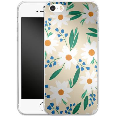 Apple iPhone 5s Silikon Handyhuelle - Daisy Chain von Iisa Monttinen
